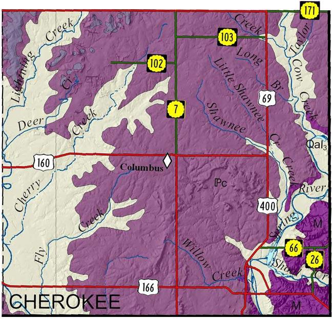 KGS--Geologic Map--Cherokee on