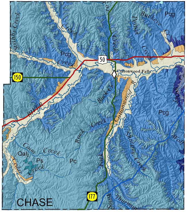 KGS--Geologic Map--Chase on
