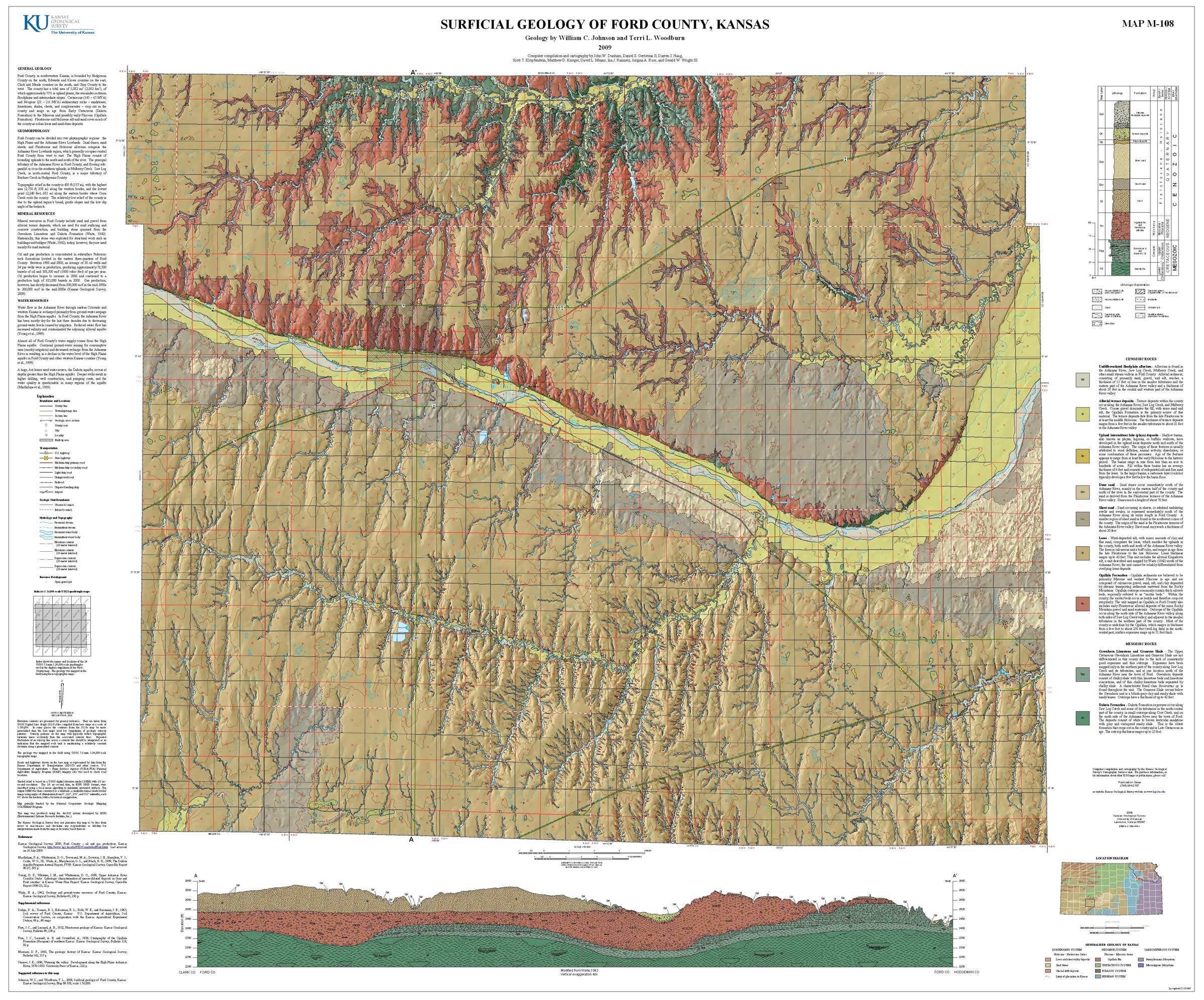 Kgs geologic map ford large size