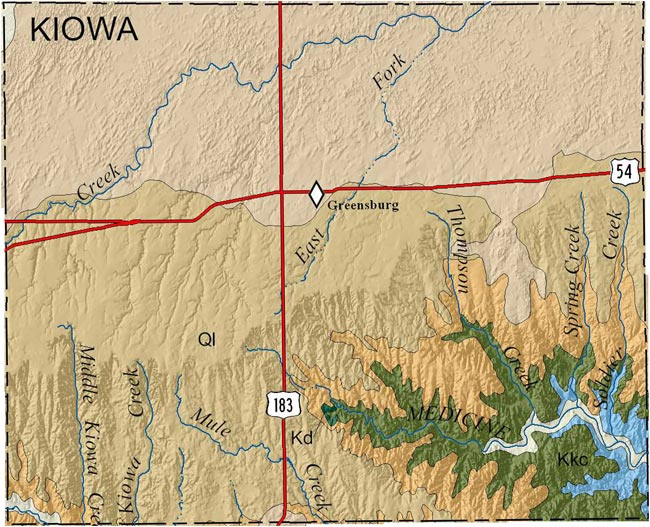 KGS--Geologic Map--Kiowa