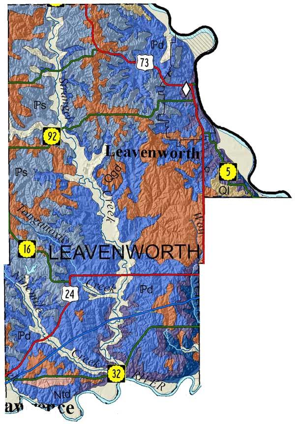KGS--Geologic Map--Leavenworth