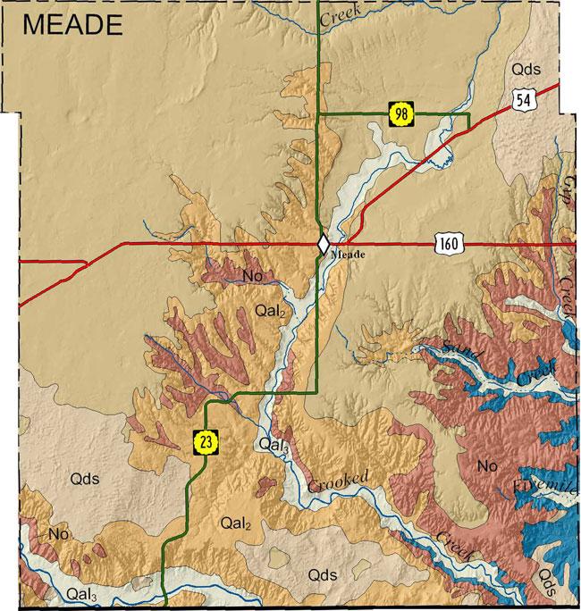 Kgs Geologic Map Meade