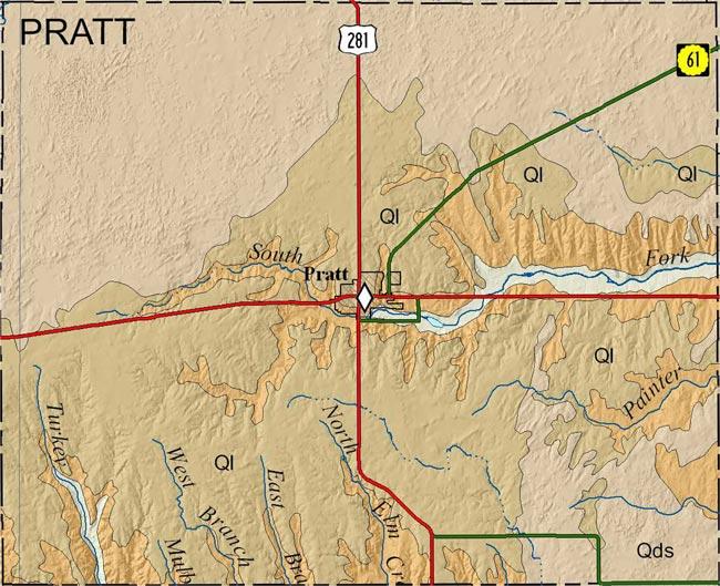 Kgs Geologic Map Pratt