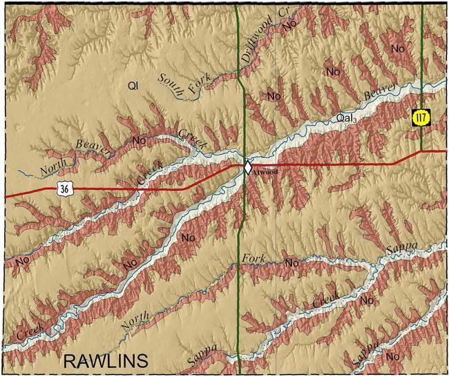 KGSGeologic MapRawlins