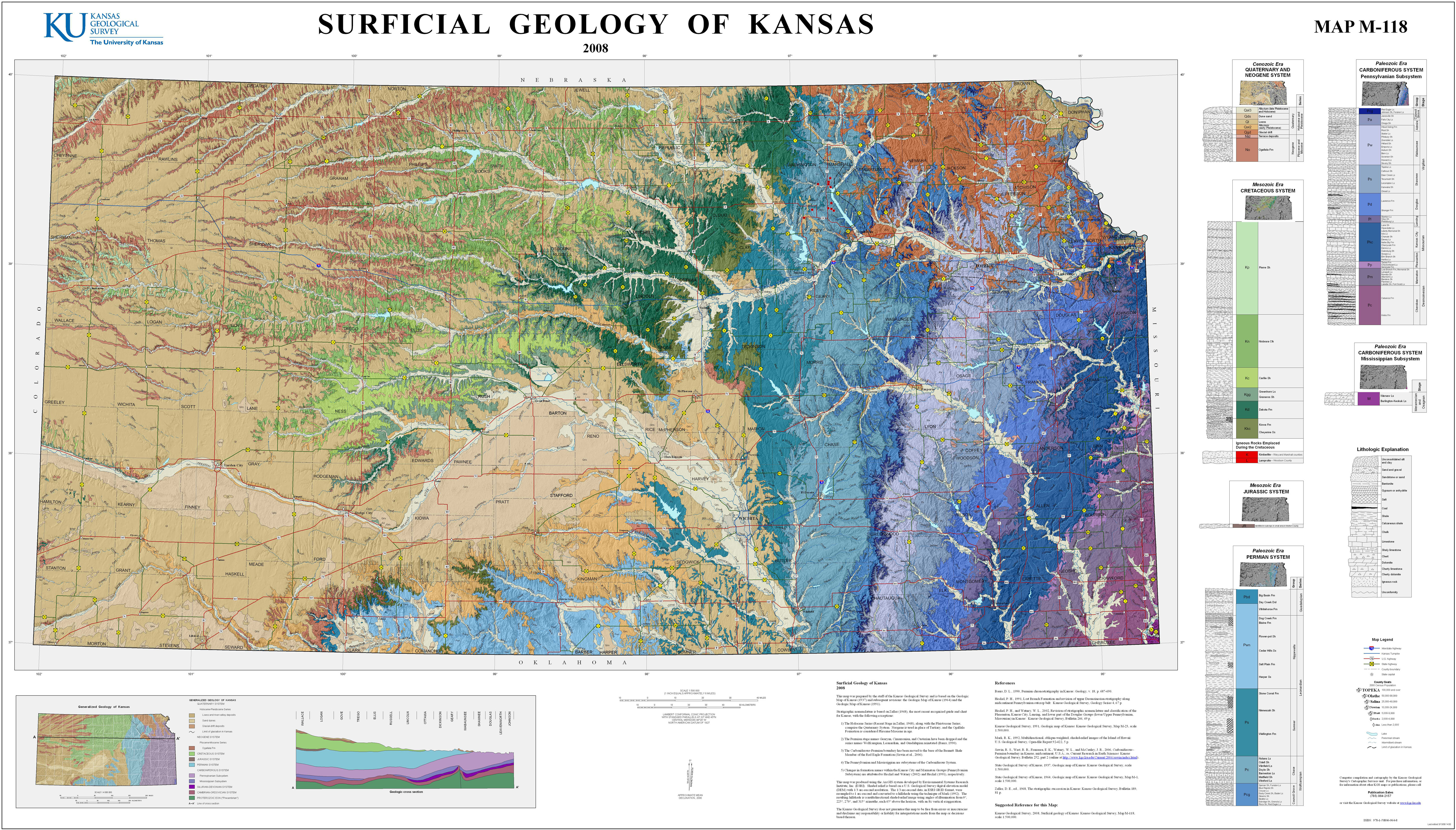 Geography Maps History Culture Community Economy Flint - Elevation map of kansas