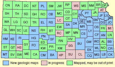 Kgs Geology Resources Geologic Map Index