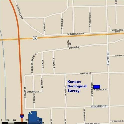 Wichita Map showing location of KGSR offices