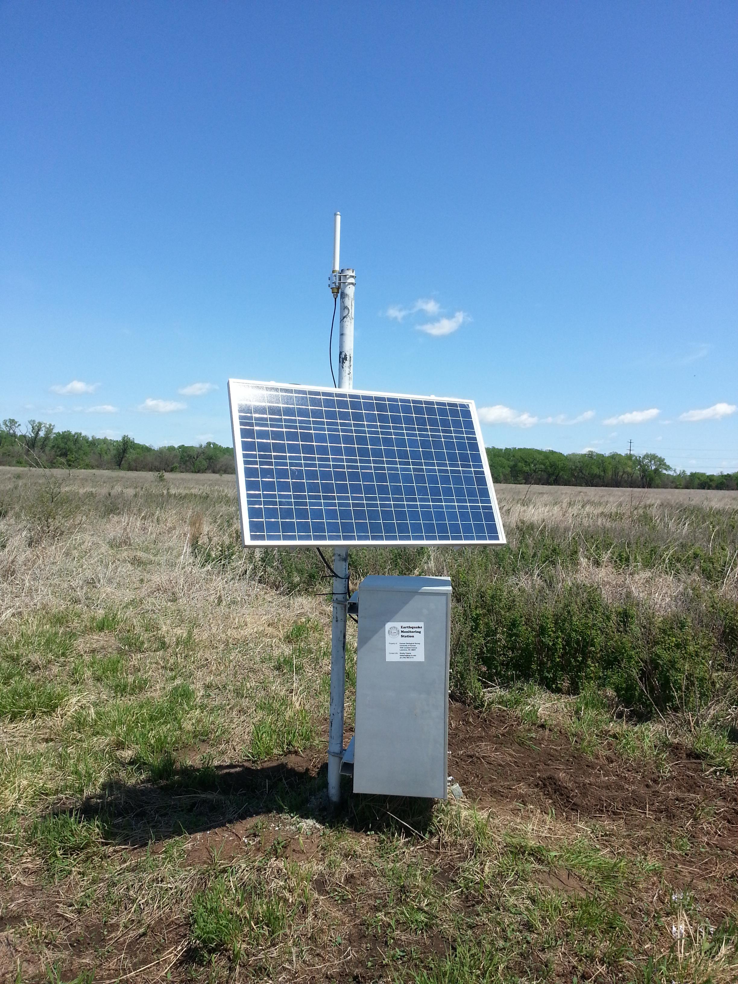 Kgs kansas earthquakes seismometer network for Kansas solar installers