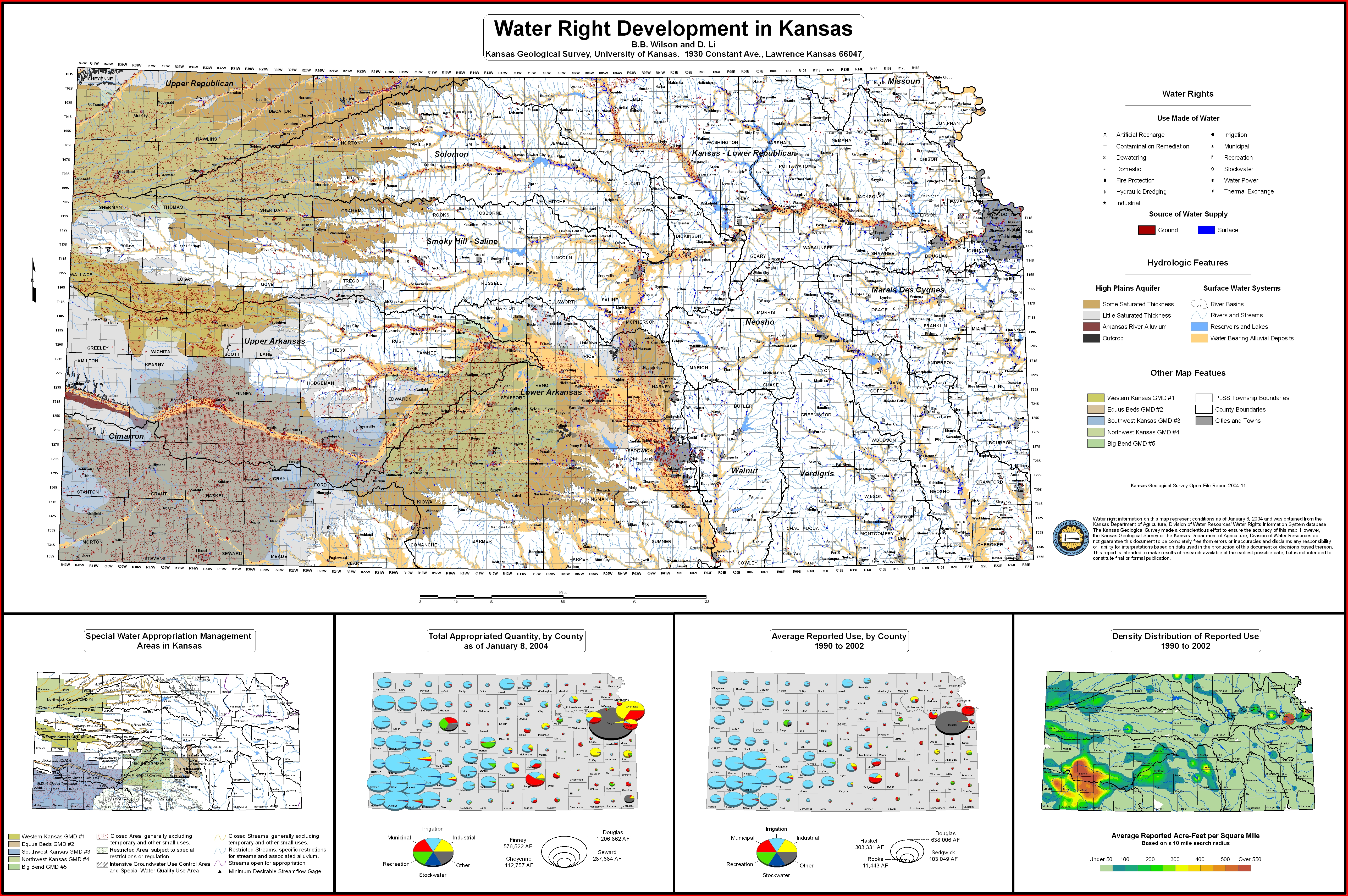 Kansas Geological Survey KGS High Plains Ogallala Aquifer Maps - Map kansas