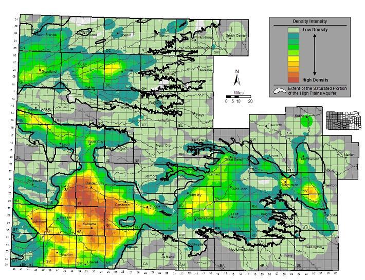 Kansas Geological Survey (KGS) High Plains / Ogallala Aquifer Maps