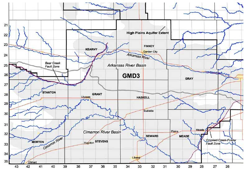 Seward And Meade Counties Are In Far Southwest Kansas In Cimarron River Basin South