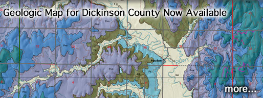 Geologic Map for Dickinson County Now Available.