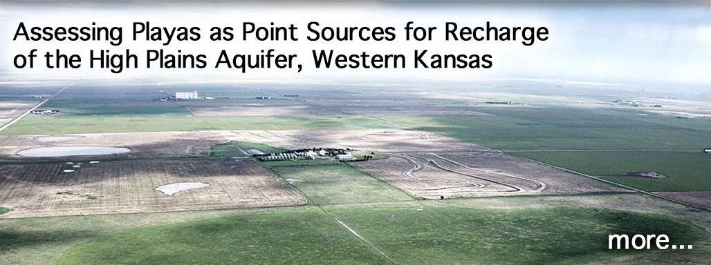 Assessing Playas as Point Sources for Recharge of the High Plains Aquifer, Western Kansas