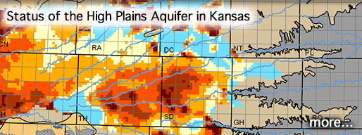 Status of the High Plains Aquifer in Kansas; image is of northern part of High Plains Aquifer.