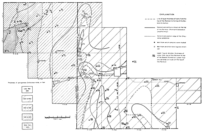 KGS--Oil-field Areas of Ellis and Russell Counties--Formations