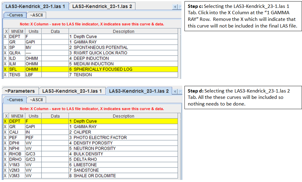 HELP: Split Log ASCII Standard (LAS) version 3 0 File